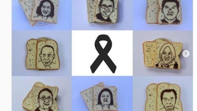 Viral Cara Unik Ungkap Duka untuk Paramedis Lewat Lukisan Roti