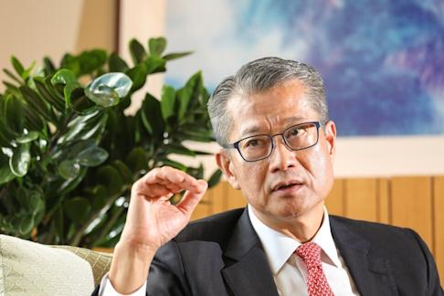 Financial Secretary Paul Chan Mo-po during a June 11, 2020 interview at the Central Government Offices in Tamar. Photo: Nora Tam