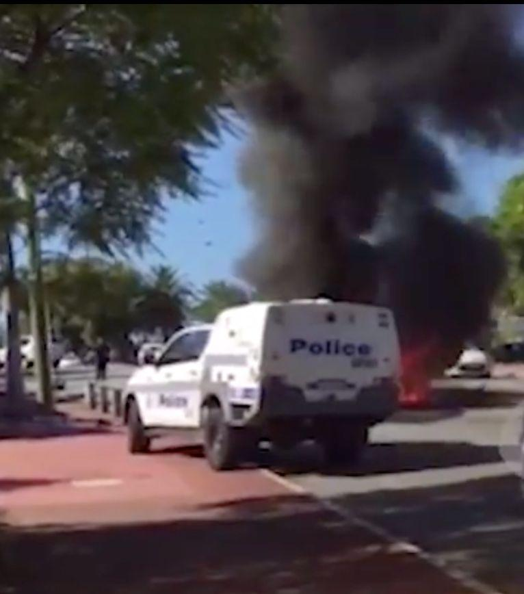 Police chase ends in fiery horror with one dead and one injured