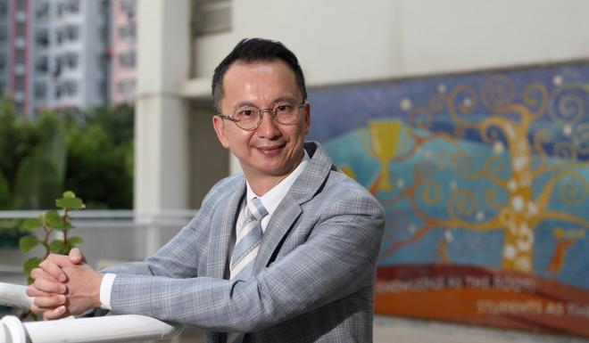 Acting chairman of the Hong Kong Association of the Heads of Secondary Schools Lin Chun-pong. Photo: Xiaomei Chen