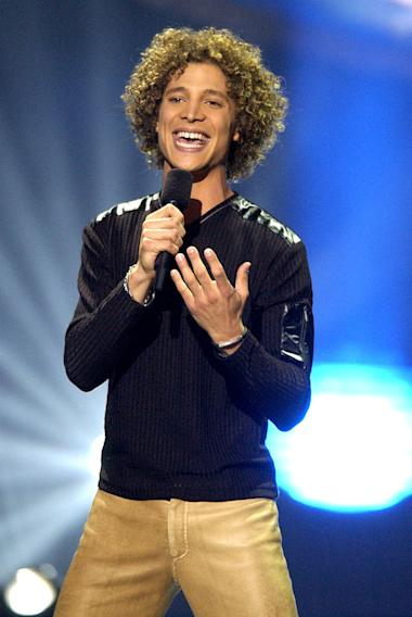 "Justin Guarini at the season 1 ""American Idol"" finale."