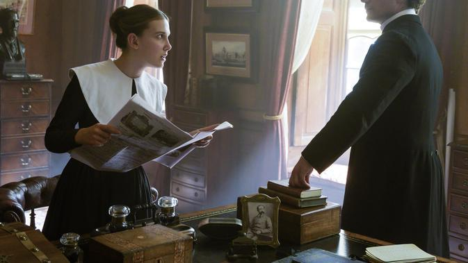 Enola Holmes. (ALEX BAILEY/ Netflix)