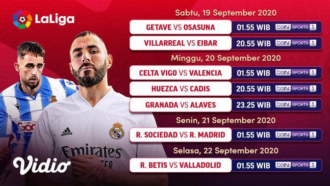 Jadwal La Liga Spanyol Pekan Kedua di Vidio. (Sumber: Vidio)