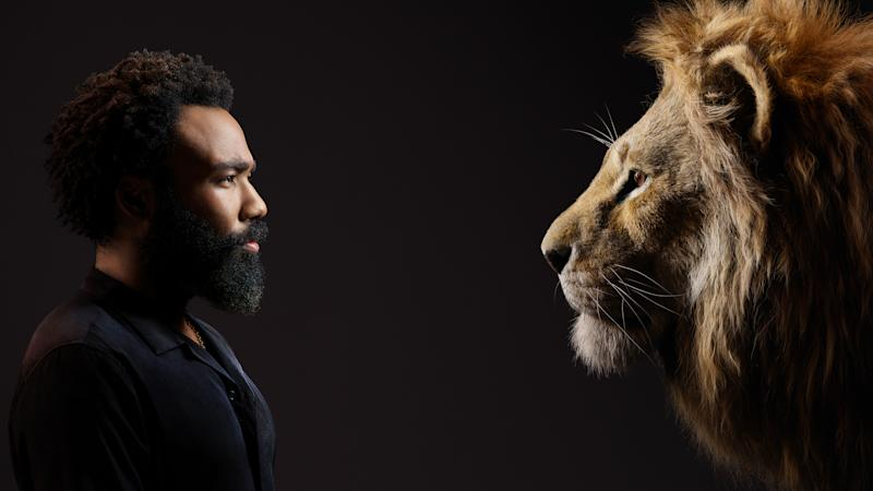 Donald Glover with his character Simba. Photo: Disney