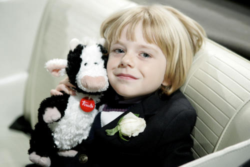 In this undated photo released by J&R, child actor, Max Page, who played little Darth Vader in Volkswagen's 2011 Super Bowl commercial, is shown. The 7-year-old underwent surgery to replace a pulmonary valve on Thursday, June 14, 2012, without incident. The operation was done at Children's Hospital Los Angeles. (AP Photo/J&R, JPI Studios)
