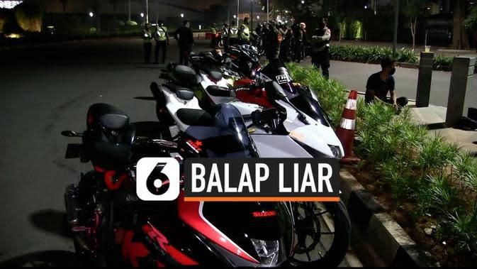 VIDEO: Perwira Polisi Ditabrak Pembalap Liar