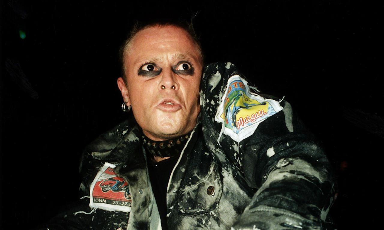 "The Prodigy frontman Keith Flint was <a href=""https://uk.news.yahoo.com/prodigys-keith-flint-dead-aged-49-113430158.html"">found dead at his Essex home</a> on 4 March, with a coroner later reporting there to be insufficient evidence on whether he took his own life. The Firestarter hitmaker was just 49 at the time of his death. Following his passing, many other musicians paid tribute to him including Kasabian, The Stone Roses' Ian Brown and Gary Human. (Photo by POP-EYE/ullstein bild via Getty Images)"