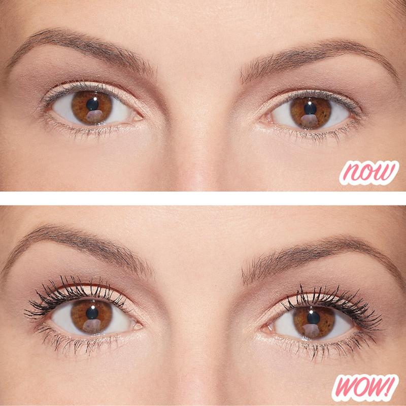 Without and with Benefit Cosmetics Roller Lash Mascara (Credit: Benefit Cosmetics)