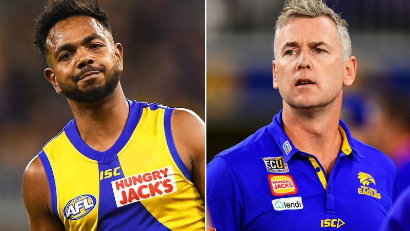 Willie Rioli and Adam Simpson, pictured here in 2019 with the Eagles.