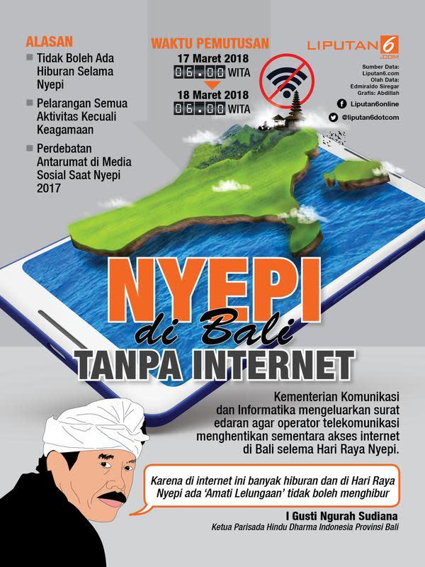 Infografis Nyepi di Bali tanpa Internet