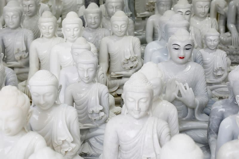 Carving Buddha in Myanmar village 'blessed' with marble bounty