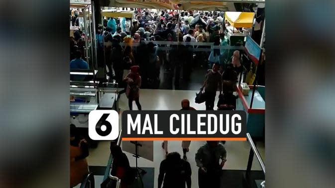 VIDEO: Viral, Warga Penuhi Mal di Ciledug