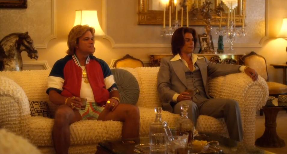"Matt Damon and Rob Lowe in HBO's ""Behind the Candelabra."""
