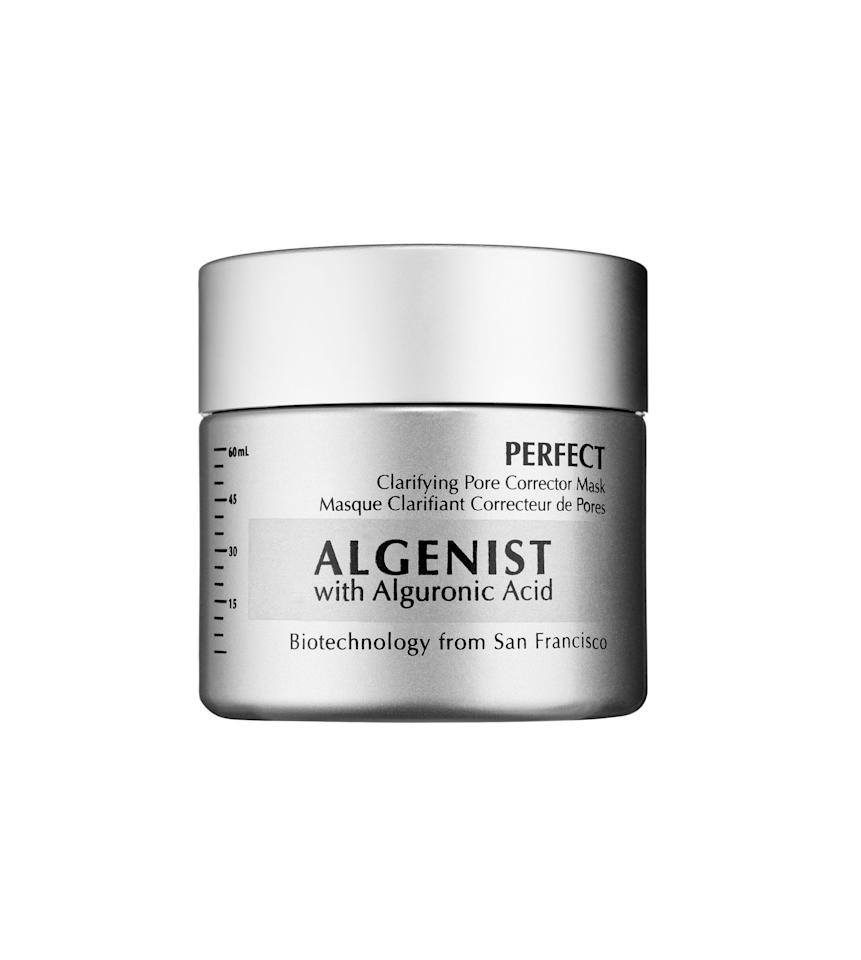 """<p><strong>Algenist</strong></p><p>sephora.com</p><p><strong>$55.00</strong></p><p><a href=""""https://go.redirectingat.com?id=74968X1596630&url=https%3A%2F%2Fwww.sephora.com%2Fproduct%2Fperfect-clarifying-pore-corrector-mask-P407645&sref=https%3A%2F%2Fwww.oprahmag.com%2Fbeauty%2Fskin-makeup%2Fg26536896%2Fbest-clay-mask%2F"""" target=""""_blank"""">Shop Now</a></p><p>With oil-absorbing, pore-minimizing technology, this professional-grade mask features alguronic acid and sulfur, promising improved texture, clarity, and brightness. """"Sulfur is good for acne,"""" Dr. Shamban notes.</p>"""