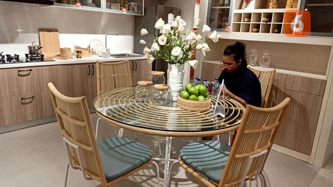 Kabinet dapur. (Liputan6.com/Dinny Mutiah)