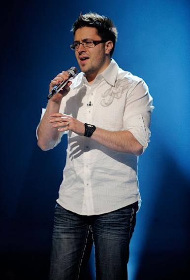 "Danny Gokey performs ""Hero"" by Mariah Carey on ""American Idol."""