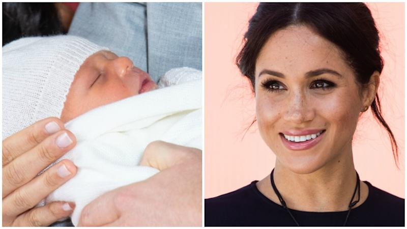 Meghan Markle's been up nursing royal baby Archie all night
