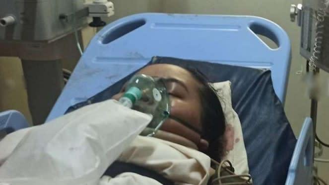 VIVA Militer: Putri Nabilla di rumah sakit.