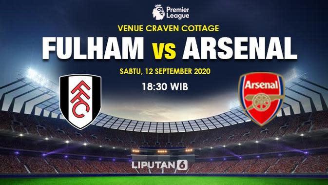 Banner Prediksi Fulham vs Arsenal. (Triyasni)
