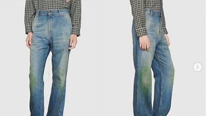 Mirip Celana Bekas, Harga Jeans Terbaru Gucci Bikin Elus Dada. (dok.Instagram @maybelle_boma/https://www.instagram.com/p/CFaXNJHhAVN/Henry)