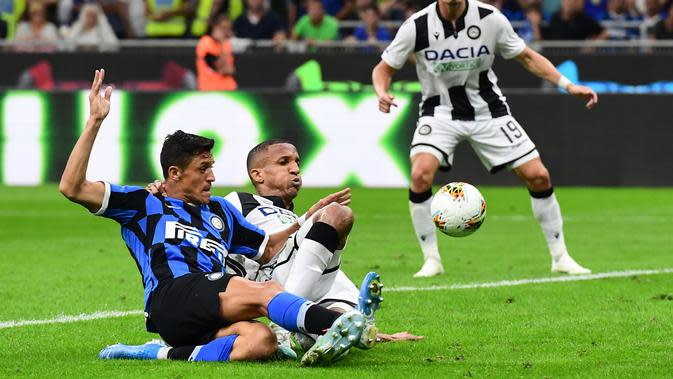 Pemain Inter Milan, Alexis Sanchez. (AFP/Miguel Medina)