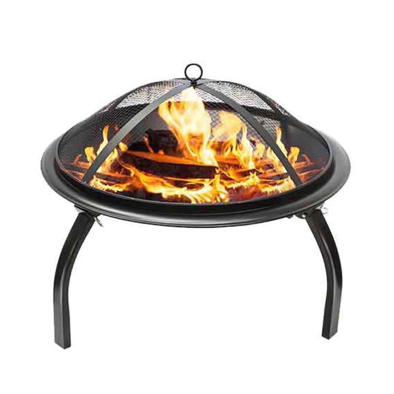Valentine Steel Wood Burning Fire Pit (Credit: Wayfair)
