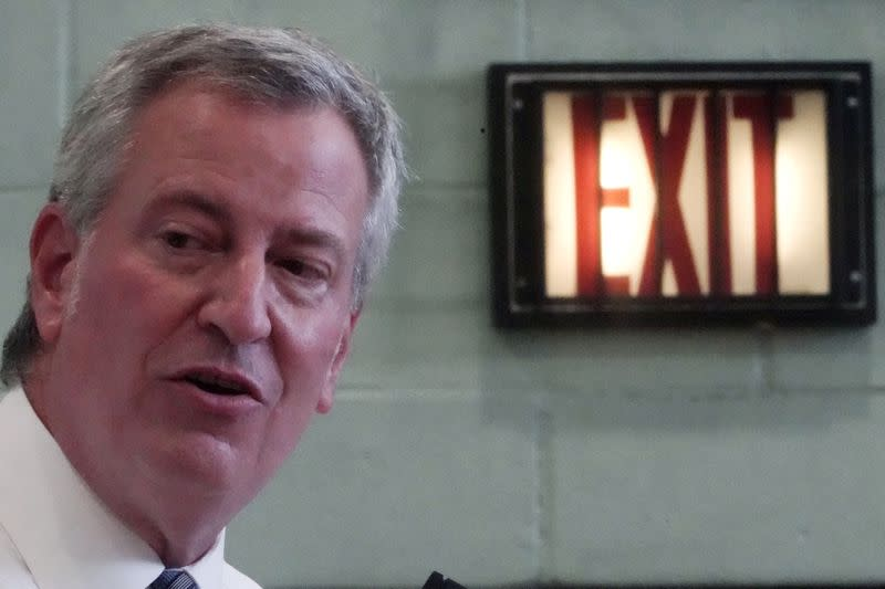 New York mayor furloughs himself, staff for week to ease pandemic budget gap