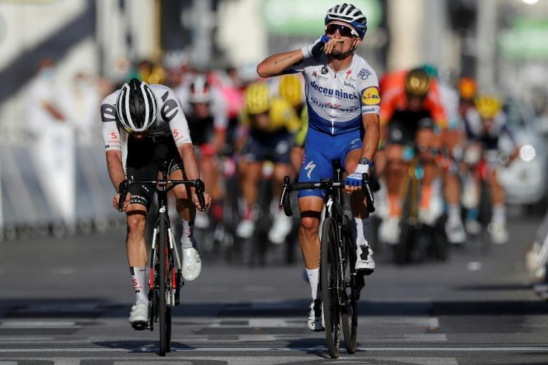 Tearful Alaphilippe dedicates Tour stage win to late father