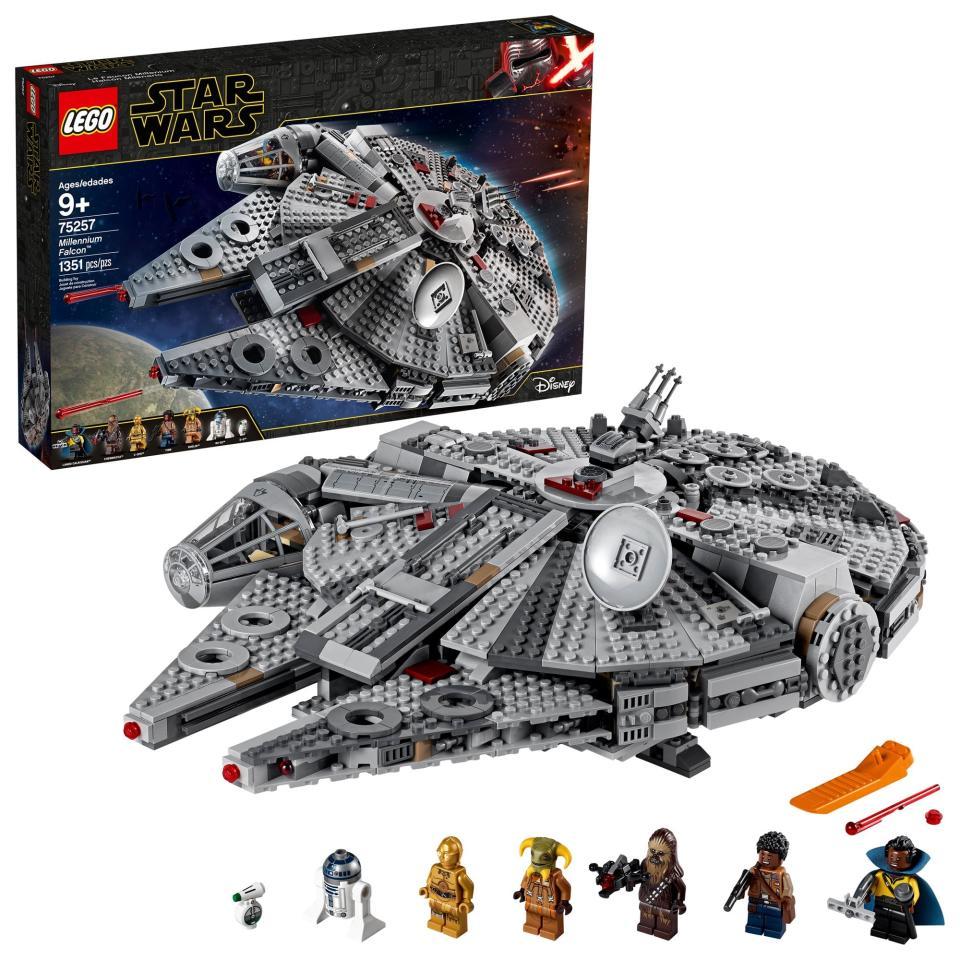 "<p>They'll have a ton of fun building the <a href=""https://www.popsugar.com/buy/LEGO-Star-Wars-Rise-Skywalker-Millennium-Falcon-506803?p_name=LEGO%20Star%20Wars%3A%20The%20Rise%20of%20Skywalker%20Millennium%20Falcon&retailer=walmart.com&pid=506803&price=160&evar1=moms%3Aus&evar9=46804434&evar98=https%3A%2F%2Fwww.popsugar.com%2Ffamily%2Fphoto-gallery%2F46804434%2Fimage%2F46805829%2FLEGO-Star-Wars-Rise-Skywalker-Millennium-Falcon-75257---Walmartcom&list1=toys%2Cgift%20guide%2Cwalmart%2Cgifts%20for%20kids%2Ckid%20shopping%2Ckids%20toys&prop13=mobile&pdata=1"" rel=""nofollow"" data-shoppable-link=""1"" target=""_blank"" class=""ga-track"" data-ga-category=""Related"" data-ga-label=""https://www.walmart.com/ip/LEGO-Star-Wars-The-Rise-of-Skywalker-Millennium-Falcon-75257/384196576"" data-ga-action=""In-Line Links"">LEGO Star Wars: The Rise of Skywalker Millennium Falcon</a> ($160).</p>"