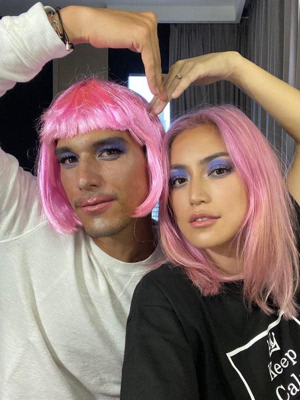 Jessica Iskandar Warnai Rambut Jadi Pink, Ini 6 Potretnya ...