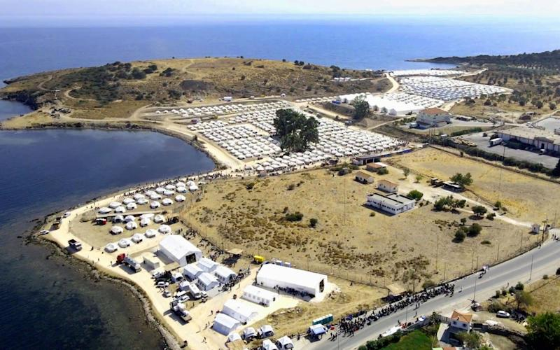 Displaced migrants and refugees move into new Kara Tepe camp, Lesbos Island - Shutterstock