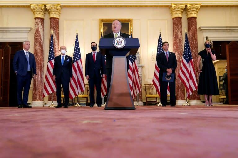 Trump defiantly presses 'UN' sanctions on Iran