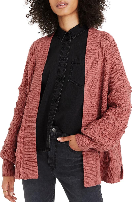 Madewell Bobble Cardigan Sweater. Image via Nordstrom.