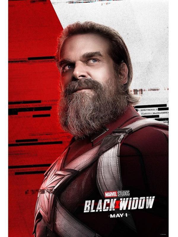 David Harbour sebagai Alexei Shostakov di Black Widow. (Foto: Instagram @black.widow)