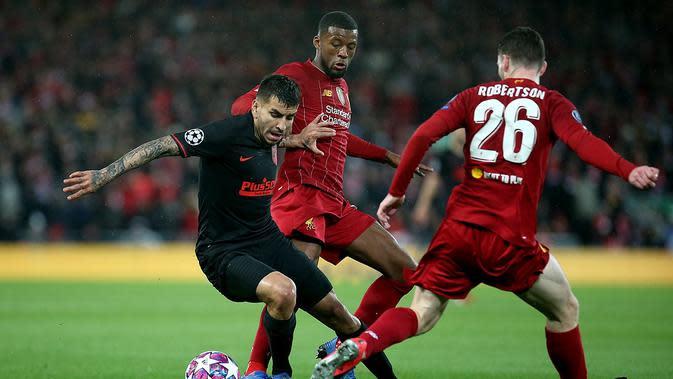 Jalannya pertandingan leg kedua 16 besar Liga Champions antara Liverpool vs Atletico Madrid di Anfield (Doc: Atletico Madrid)