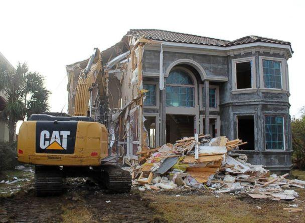 PHOTO: After moving down to South Carolina, the Leighton's had another home-related nightmare when their contractor was faulty and they ended up having to tear down their newly built home in Nov. 2016. (Courtesy Gerry Leighton)