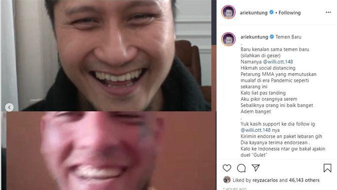 Arie Untung - Willhelm Ott (Foto: Instagram/ @ariekuntung)