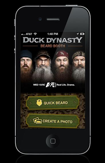"""Duck Dynasty"" Merchandise: Beard Booth App"