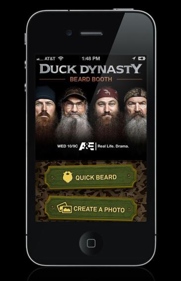 """Duck Dynasty"" Merchandise: Beard Booth App"