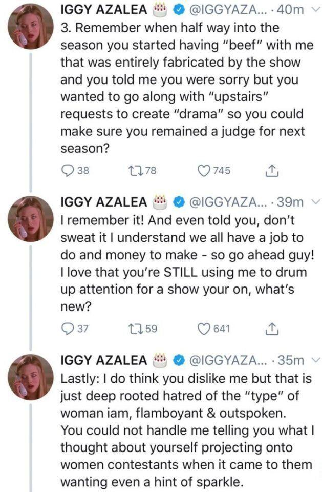 Iggy Azalea's string of tweets against The Voice coach Guy Sebastian
