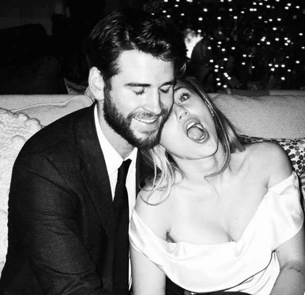 <p>Nearly two months after tying the knot, Miley has given us another glimpse inside her wedding to Liam Hemsworoth. Photo: Instagram/Miley Cyrus </p>