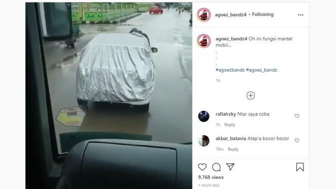 Fungsi Lain Sarung Mobil, Bisa Jadi Jas Hujan
