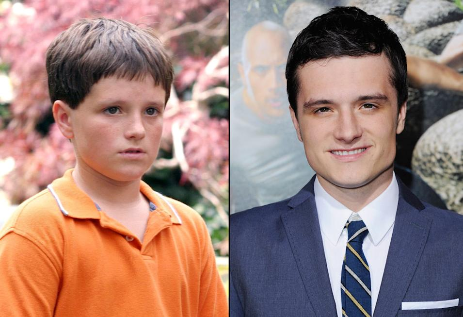 then and now the hunger games cast Josh Hutcherson