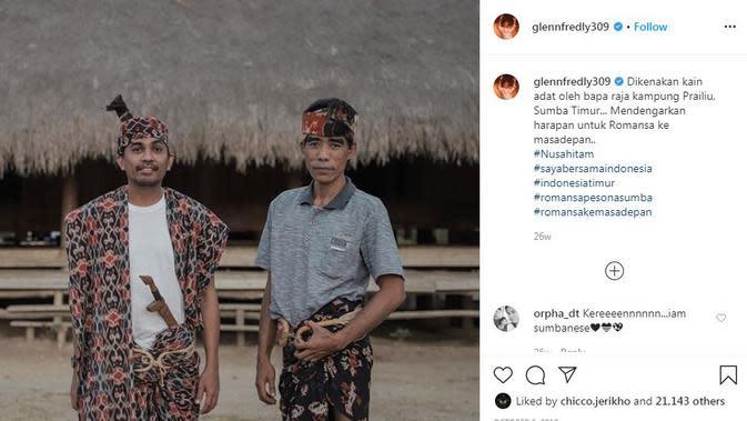 Glenn Fredly dikenal sosok peduli lingkungan dan budaya Indonesia (Dok.Instagram/@glennfredly309/https://www.instagram.com/p/B3RuCkAFBsg/Komarudin)
