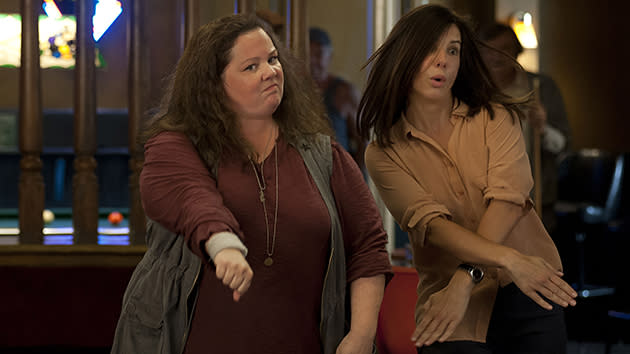 Exclusive: Sandra Bullock and Melissa McCarthy Get Seriously Hammered in 'The Heat'