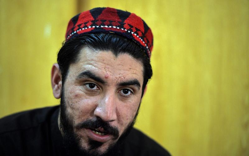 Manzoor Pashteen was arrested on charges including conspiracy - AFP