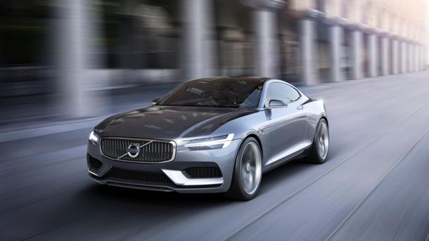 Volvo Concept Coupé pushes forward while looking back, recalling the P1800