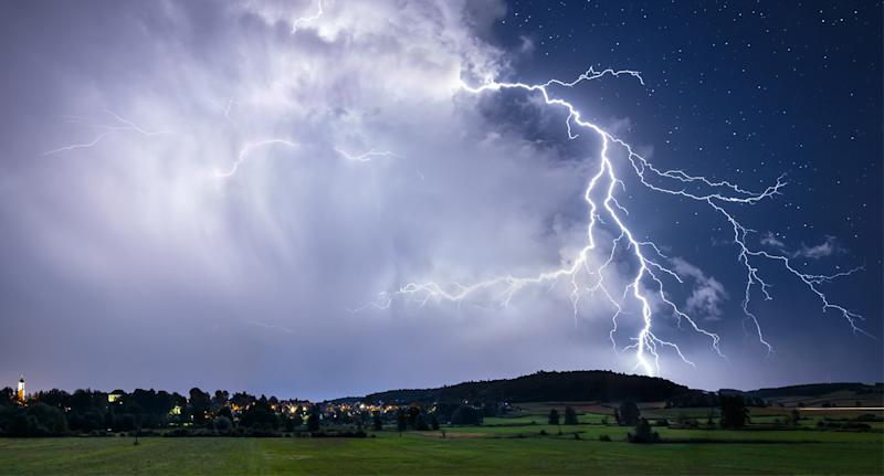 A man was stuck and killed by lightning on Saturday