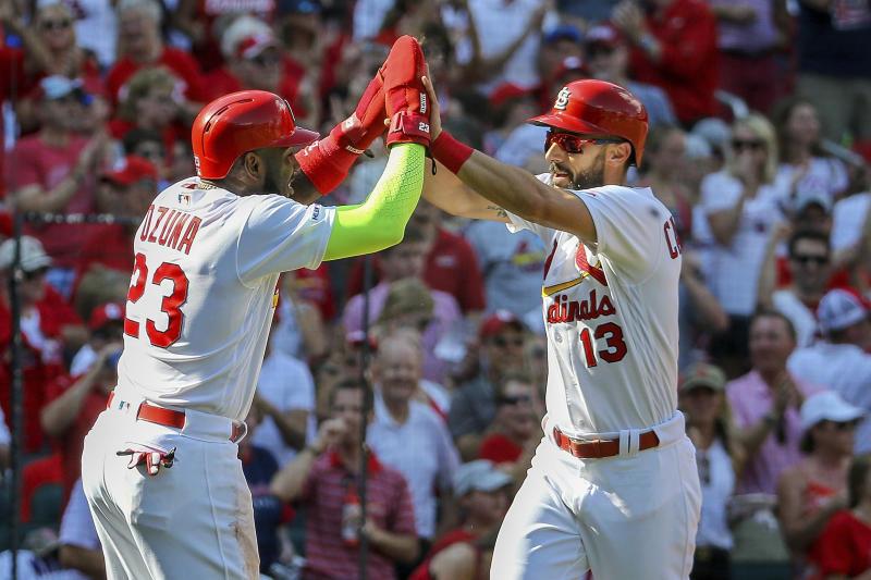 St. Louis Cardinals clinch the NL Central. (AP Photo/Scott Kane)