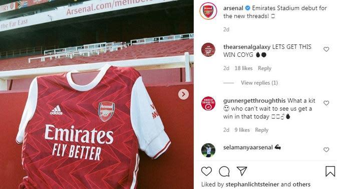Seragam Arsenal. (Instagram)